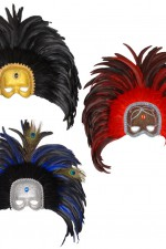 6439H Feather masks