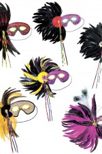 6597G eyemasks with feathers