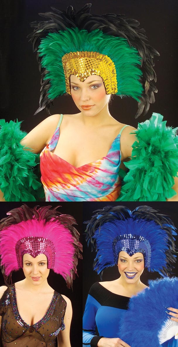 6609Z Feathered Headdress