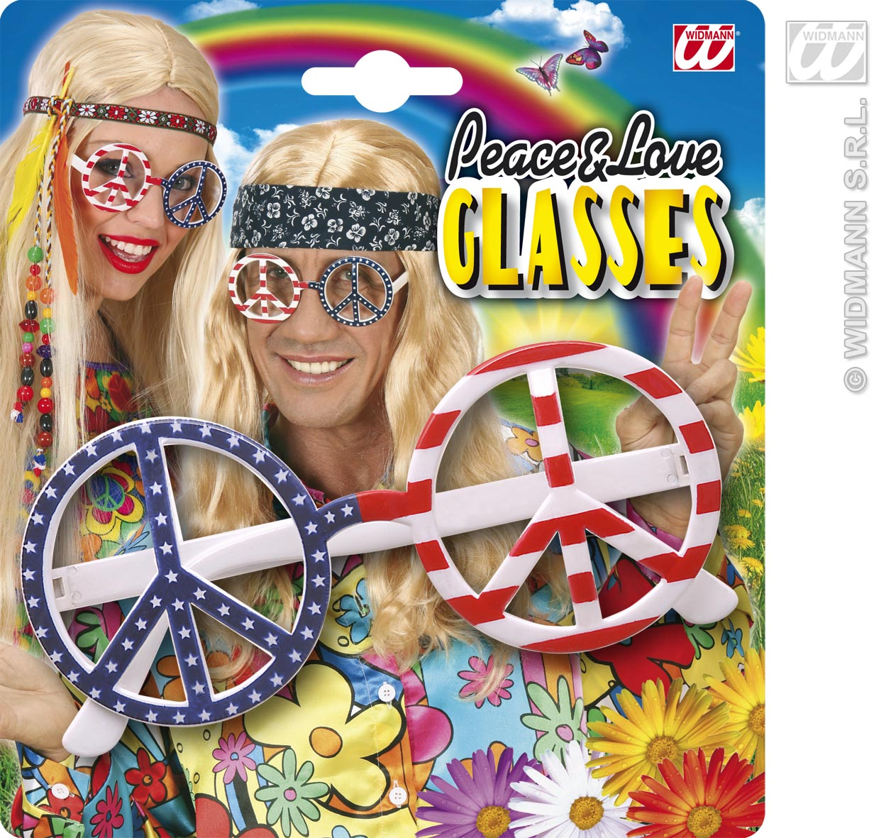 6617S USA Flag Love & Peace Glasses