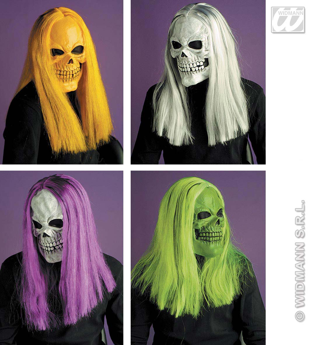 6796S Skull Mask With Wig