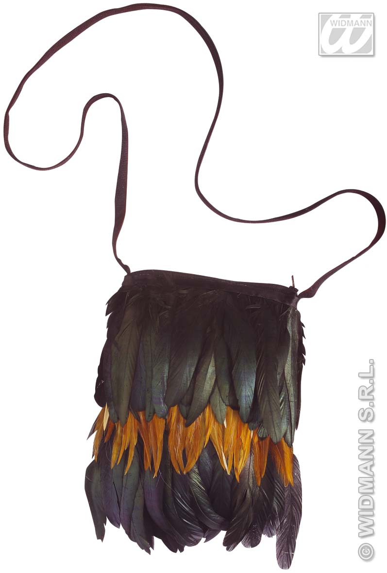 6998B Feathered Indian Handbag