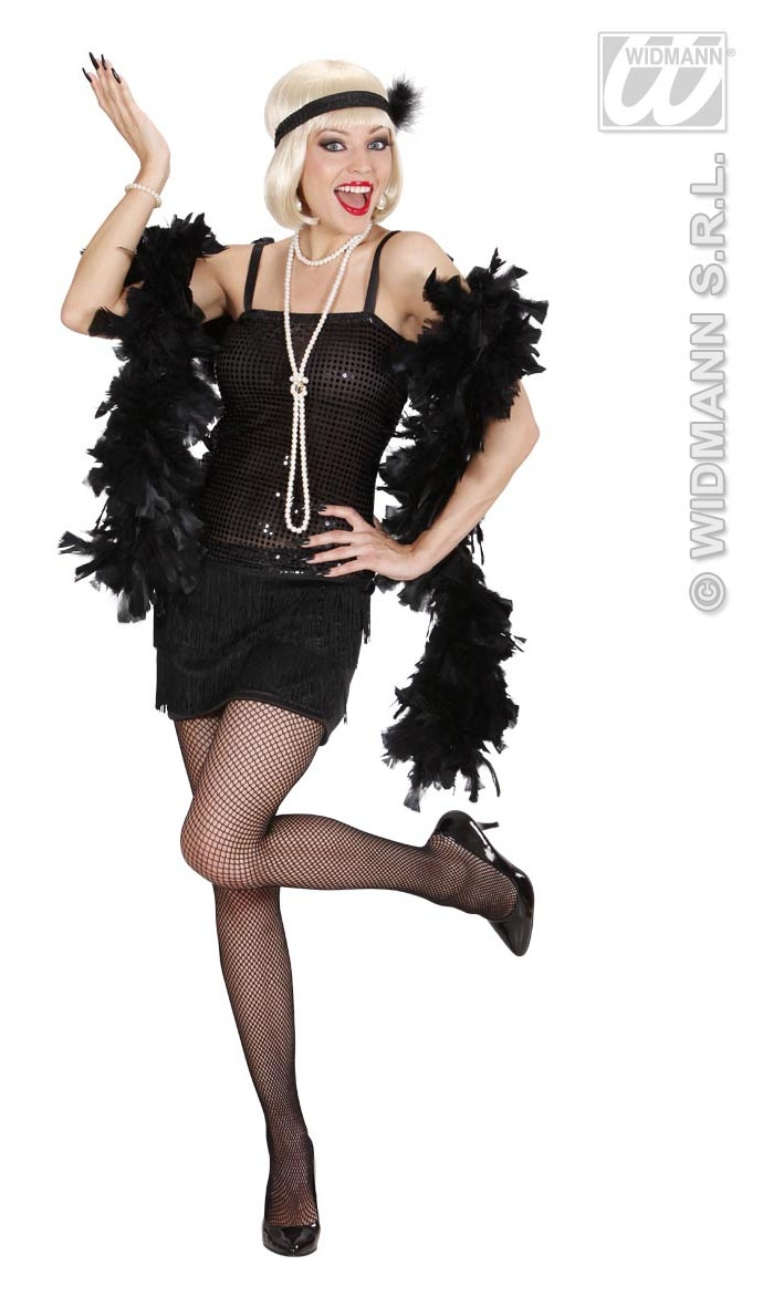 70331 Black Flapper Dress