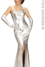 72363 Silver cocktail dress