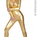 72392 70's Gold Stretch Catsuit