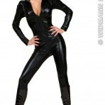 72422 70's Black Stretch Catsuit