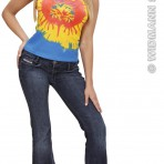 7323T Tie Dye Sleeveless Shirt