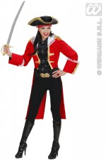 73702 Red Pirate captain Woman