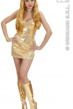 74051 Gold Sequin Dress