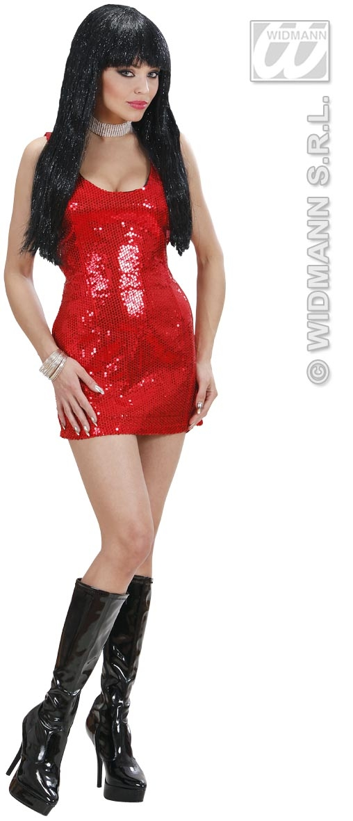 74081 Red Sequin Dress