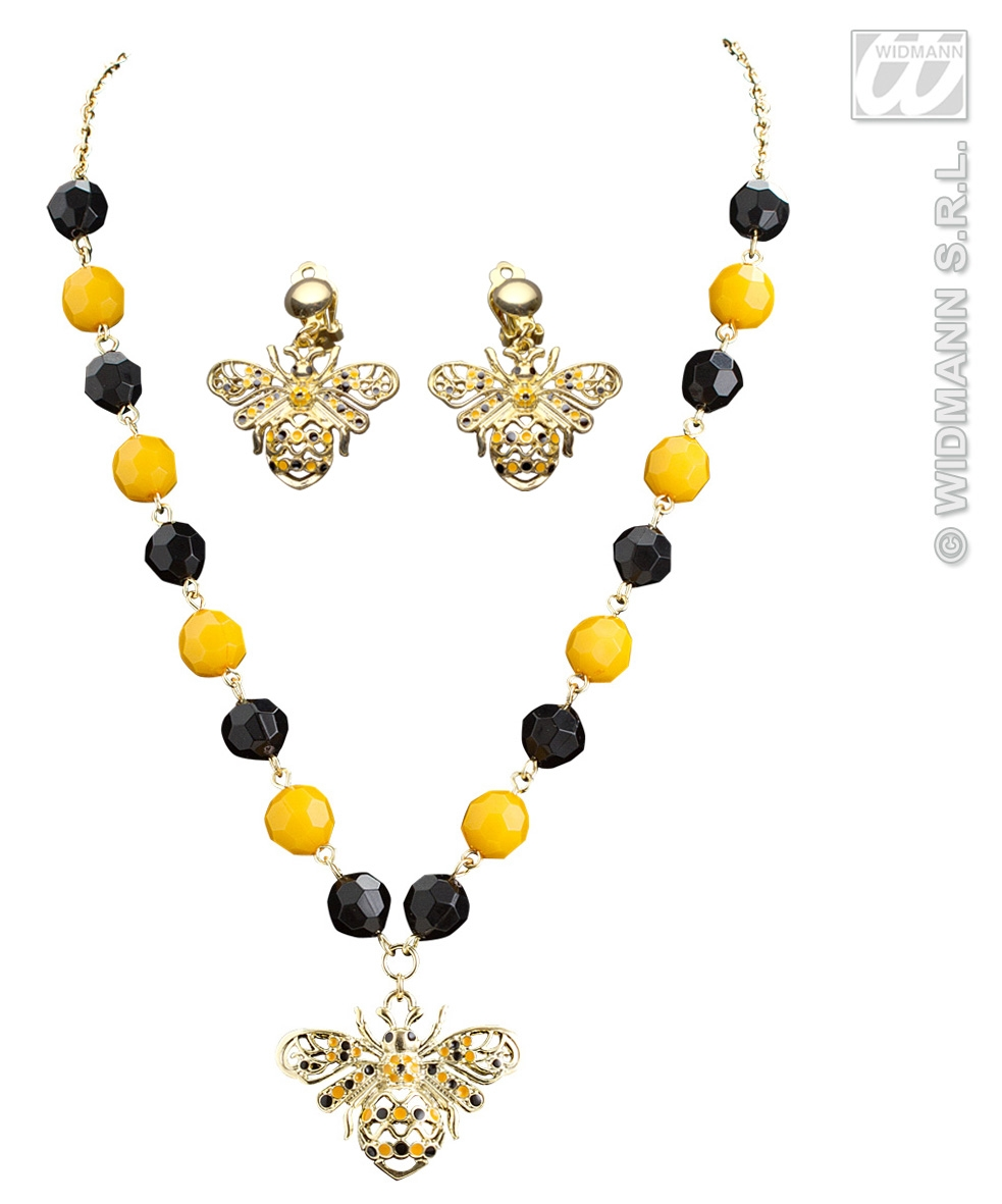 7517B Bee Necklace & Earrings Set