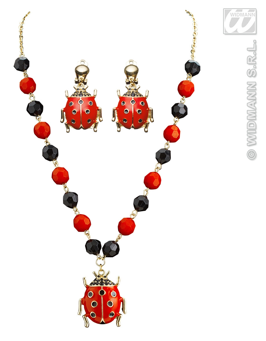 7518L Ladybird Necklace & Earrings Set