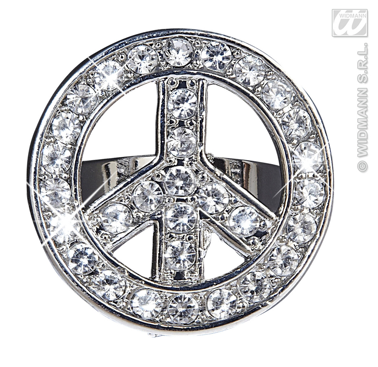 7538H Strass Peace & Love Ring