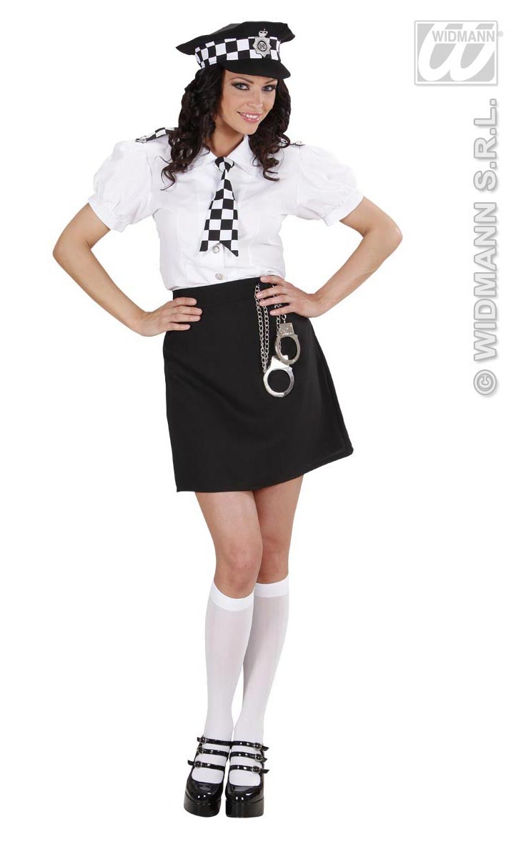 77391 sml - Girls Cop Halloween Costume