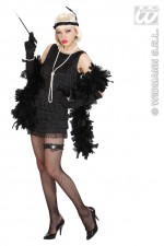 77401 Black Flapper Dress