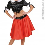8027N Satin Black Tie Top