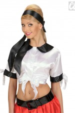 8036W/8028C Satin White Tie Top