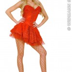8056C Red Sequin & Lace Corset