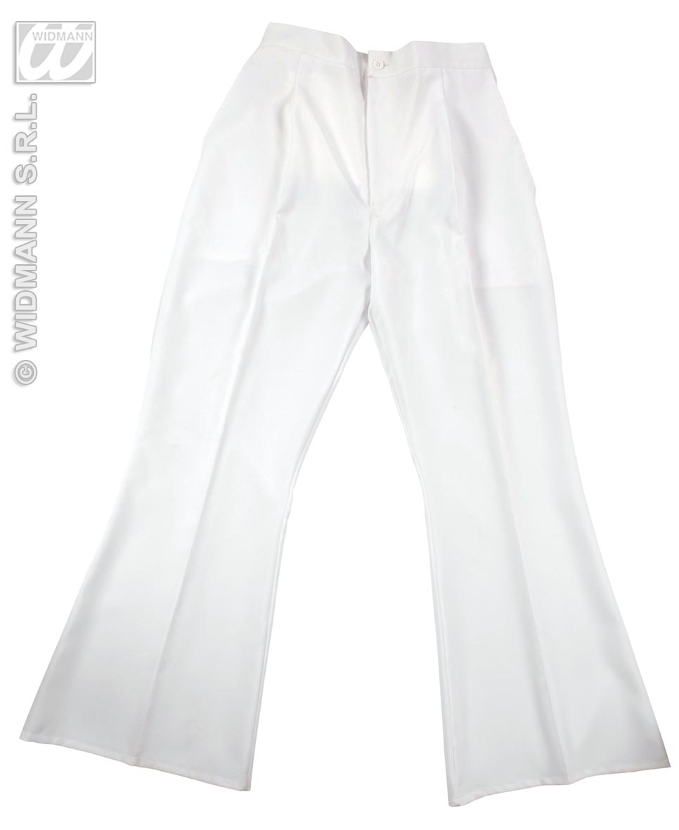 8098B/8099L White Flare Trousers