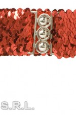 8166E Red Sequin Belt