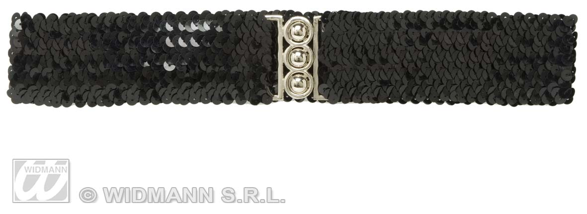 8167N Black Sequin Belt