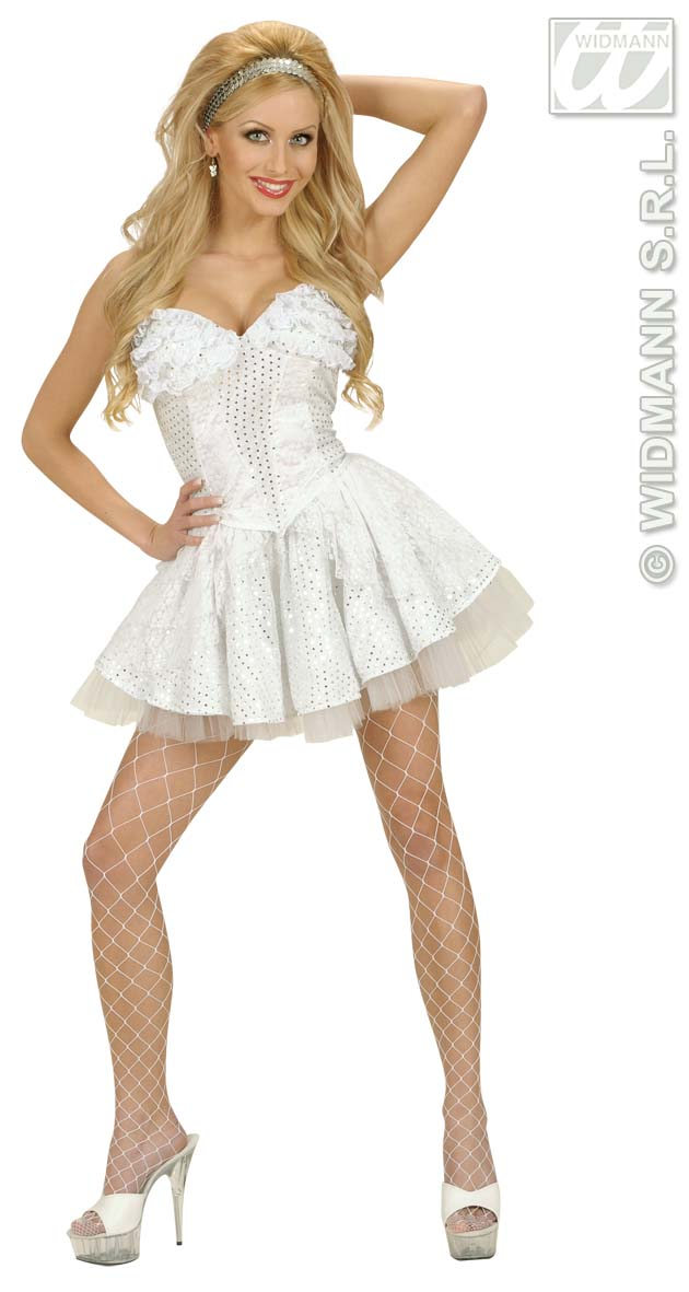 8171Z White Sequin & Lace Skirt