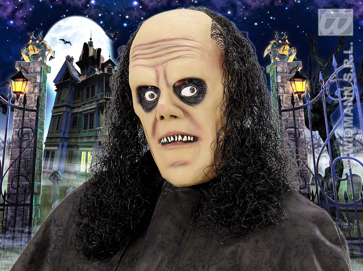 8282U Undertaker Mask With Wig