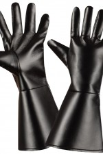 8535A Black Leatherlook Gloves
