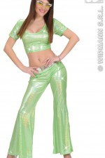 8570E Green Holographic Sequin Top