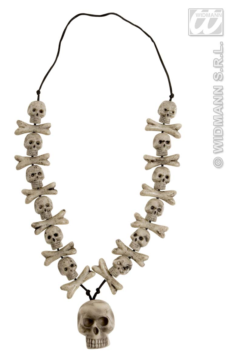 8597N Skull & Cross Bone Necklace