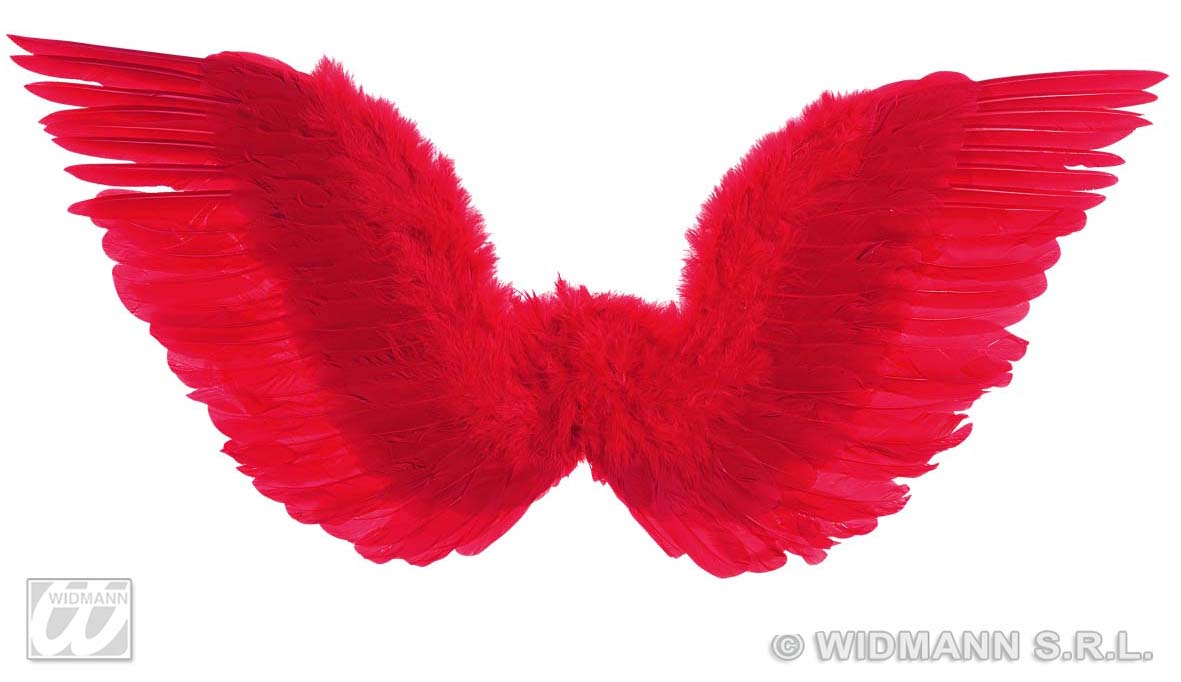 8672H Red Feathered Wings