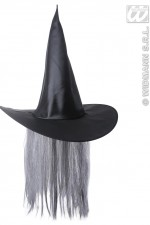 8681S Witch Hat With Hair