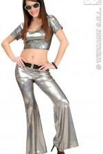 8754N Silver Sequin Trousers