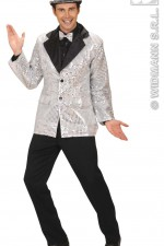 8784B Silver Sequin Jacket