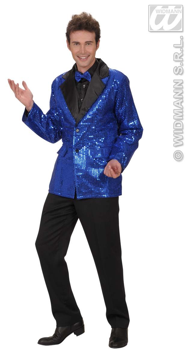 8786D Blue Sequin Jacket