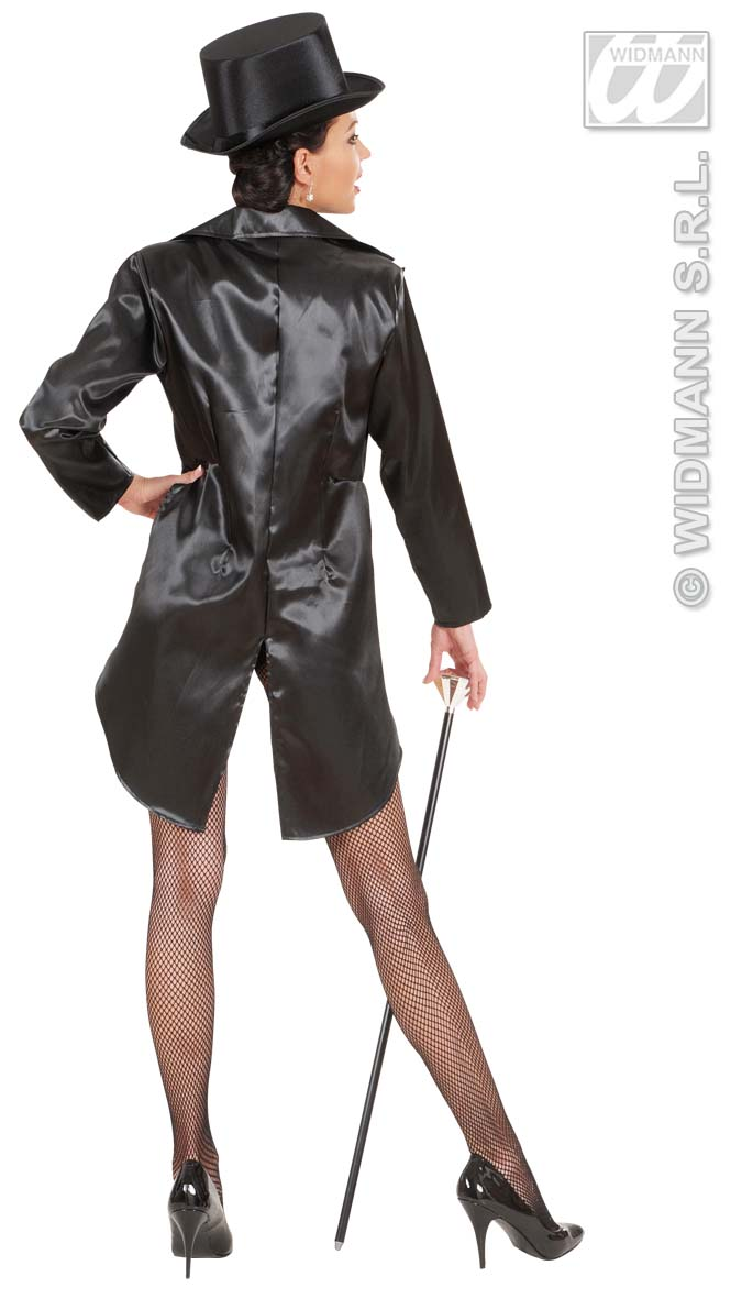 87912 Black Satin Tailcoat