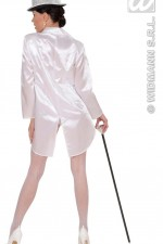 87922 White Satin Tailcoat
