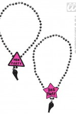 8851W Hen Party Whistle Necklace