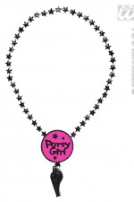 8865R Party Girl Whistle Necklace