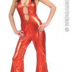 88732 Red Cut Out Jumpsuit
