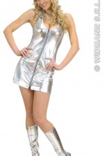 89712 Silver Zipper Dress