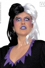 W6089 Black and white wig