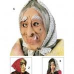 1316W Witch Mask With Headscarf