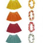 2457E Hawaiian Hula Skirt Set