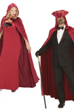 3569B Red Velvet Hooded Cloak