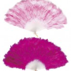 4717P Hot & Soft Pink Feather Fan
