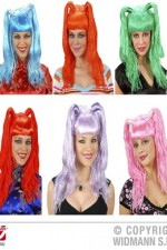 5970K Long Coloured Pigtails Wig