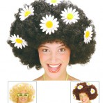 6073D 60s Wig With Flower