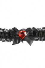 8201S Garter With Red Heart