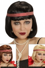 H6163 Charleston Wig With Headband